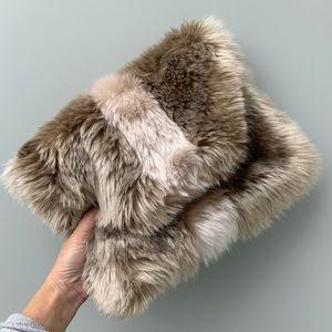 Anthropologie Remi / Reid Faux Fur Clutch Purse